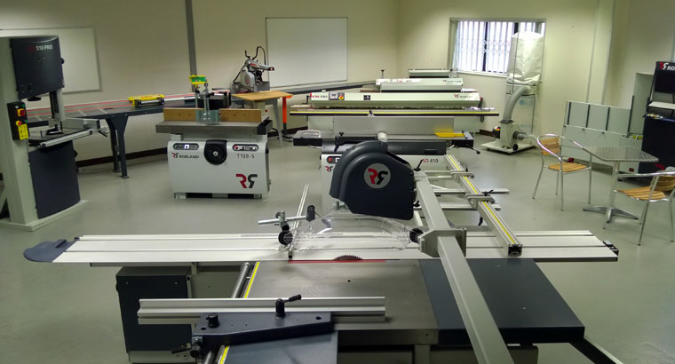 A photo of the RJ Machinery showroom