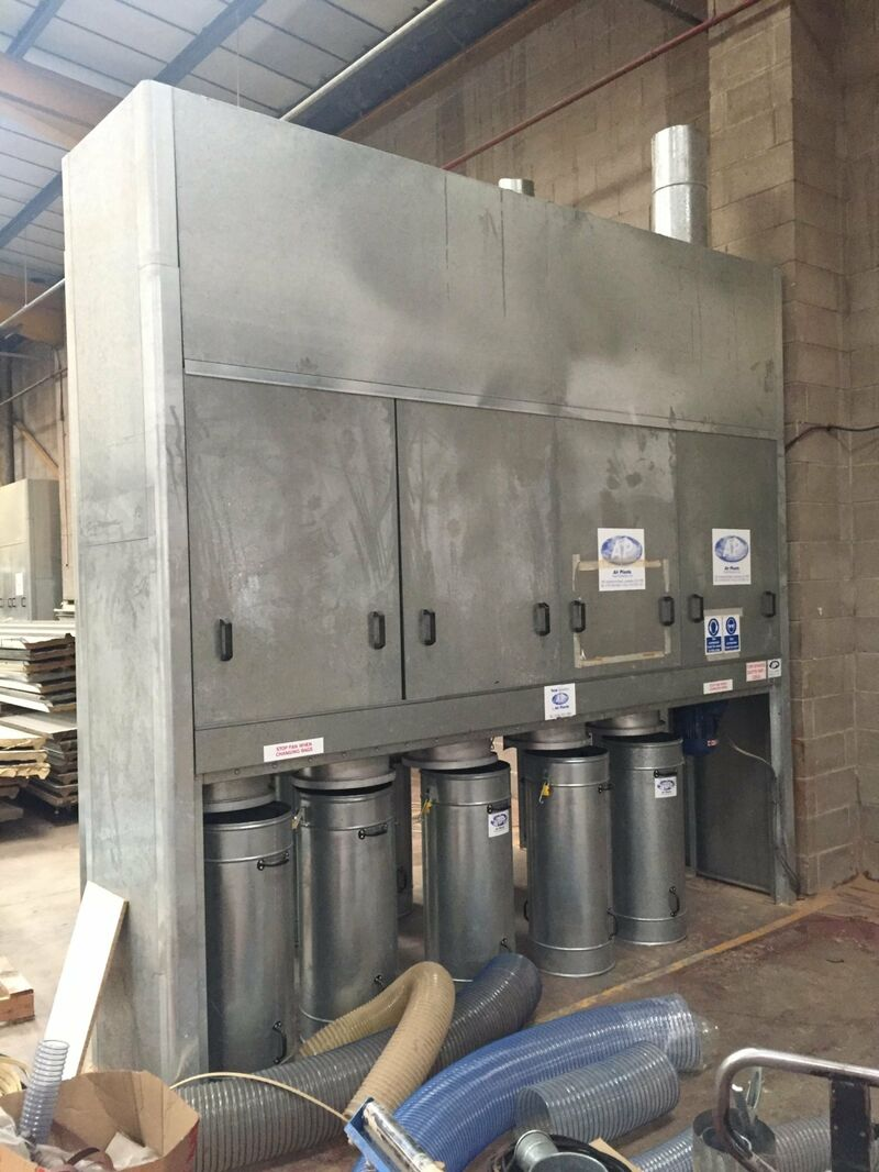 Used Air Plants 5 Bag Extraction Unit with Metal Bins