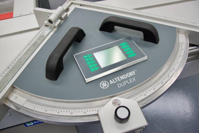 A photograph of an Altendorf Duplex sliding table saw