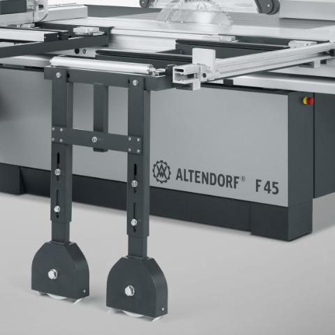 Altendorf F45 Cross Slide with Floor Support Roller