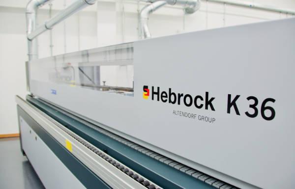 A photograph of the Hebrock K36 edgebander