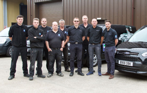 photograph of the R&J Machinery engineering team