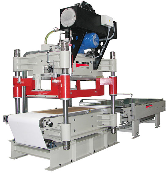 A photo of an Italpresse machine for composite processing